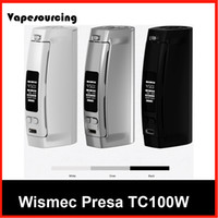 batteries companies - Authentic Wismec Presa TC100W Mod Fits and Battery Best Match INDE DUO Tank from vapesourcing company