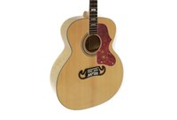 Wholesale 2016 J200 Standard acoustic guitar inch top is solid wood spruce back is Flame maple