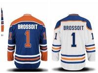 laurent - Authentic Laurent Brossoit Jersey Edmonton Oilers Jersey Brossoit Hockey Jerseys Cheap Royal White Orange Men s Stitched Jersey