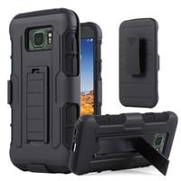 achat en gros de mini-hybride de galaxie-Pour Armure Galaxy S7 S6 S5 S4 Mini Active Future impact dur hybride Phone Case Cover + clip ceinture Béquille stand Samsung G870 G870A