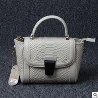 bag parcel - 2016 new head layer cowhide leather handbag portable bag snake wings Woman single shoulder bag Parcel