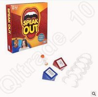 Wholesale Newest Speak Out Game KTV Party Novelty Games Toy Board Games Table Game Hot Christmas Gift With Retail Package CCA5077