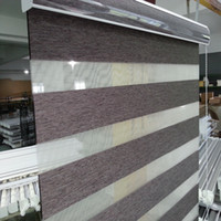 Wholesale Custom Made Shade Translucent Roller Zebra Blinds in Brown Curtains for Living Room Colors Are Available G16