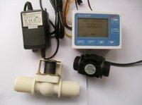 Wholesale G1 quot Water Flow Control LCD Display Flow Sensor Solenoid valve Power Adapter