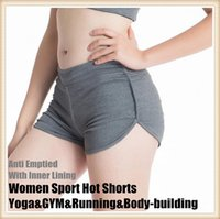 Wholesale Women Sports Hot Shorts Yoga amp GYM amp Running amp Body building Fitness Anti Emptied With Inner Lining Beach