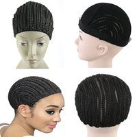 Wholesale HOT Cornrow Wig Caps For Making Wigs Adjustable Braided Wig Cap Weaving Cap For Glueless Lace Wig Making Bellqueen Hair Products