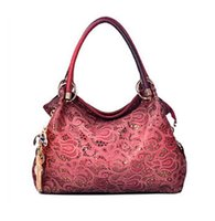 Wholesale HOT new women handbag lady elegant bags luxury pu leather bags hollow out messenger bag red shoulder bag ladies tote Z