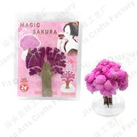 Wholesale Magic Sakura Tree Desktop Cherry Blossom DIY Paper Tree high quality
