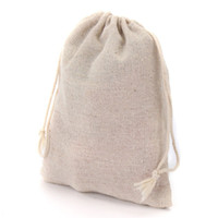 bags logos - Small Muslin Drawstring Gift Bags Cotton Linen Vintage Jewelry Pouches Packaging Case Wedding Favor holder Many Sizes Jute Sacks Custom Logo