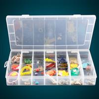 Wholesale Color Transparent Plastic Box Lattice Removable Storage Debris Free Combination Home Furnishing Jewelry Box Finishing