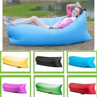 Wholesale Fast Inflatable Sleeping Bags Bag Sofa Air Bag Outdoor Camping Fatboy Lazy Hangout Down Sleeping Bag DHL