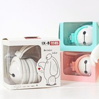 apple computer factory - earphone for iphone Factory Promotion Lovely Big Hero White Headband Headset For Your Phone Computer Gaming Headphone Hot Selling