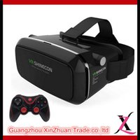 Wholesale VR SHINECON Virtual Reality Headset D IMAX Video Glasses Radiation Protection For Phone T3 Bluetooth Controller