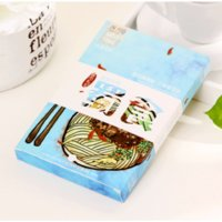 Wholesale 1Set Food style card Gift card Greeting card Post card China city Sichuan travel postcard Chinese delicious food card