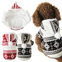 Wholesale Hot Soft Winter Warm Pet Dog Clothes Snowflake Dos Costume Clothing Jacket Teddy Hoodie Coat ropa para perros