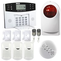 Wholesale Safearmed Advanced LCD Display Wireless Burglar Security GSM Alarm System SF Security GSM Alarm System Support One key control Functio
