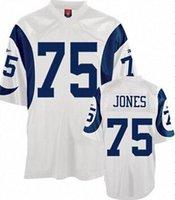 Wholesale Deacon Jones jersey Los Angeles Deacon Jones White blue Premier Throwback Jersey HOF size small xl cheap