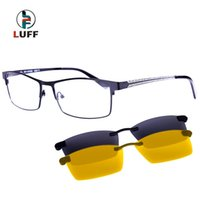 Wholesale 2016 New Eyeglasses Frame For Degree Of Glasses Myopia Optical Frame Magnetic Clip On Glasses Night Driving Clip
