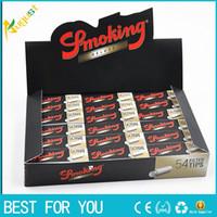 cigarette rolling machine - 54 booklets box Hornet rolling papers machine leaves tobacco cigarette paper smoking hemp cotton rolling filter tips