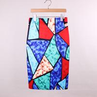 Wholesale 2016 new fashion design women geometric printed skirts Western vogue ladies faldas girls summer clothing mix order low price