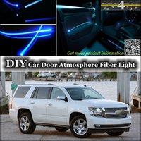 Wholesale Tuning Atmosphere Fiber Optic Band Lights For Chevrolet Tahoe Door Panel illumination Refit DIY interior Ambient Light