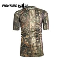 Wholesale Men Summer Army Combat Tactical T Shirt Military Outdoor Sport Shirt Hunting Camping Clothes Quick Drying Shirts Tees Clothing
