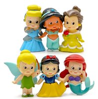 belle doll - Cartoon Mermaid All series snow white doll mermaid pvc figures Princess Ariel Belle Cartoon PVC Action Figure wedding decoration gifts
