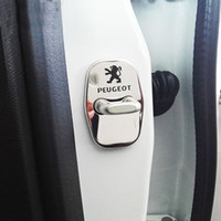 Wholesale Hight Quality Stainless Steel Car Door Lock Cover Protective Shell Sticker For PEUGEOT RCZ CC S