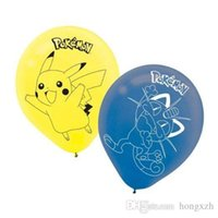 Wholesale New Pikachu Poke Mon Pokémon Birthday Party Blue Yellow Printed Latex Balloons Latex Balloons Baby Party Decorations Supplies Kids Gift