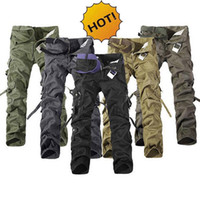 baggy ski pants - HOT Army Military Cotton Straight Multi Pocket Cargo Pants Men Tactical Camo Baggy Outdoor Climbing Ski Pants Plus Size
