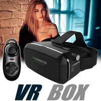 android pack - Google Cardboard VR shinecon Pro Version VR Virtual Reality D Glasses With Smart Bluetooth Wireless Remote Control Gamepad In Retail Pack