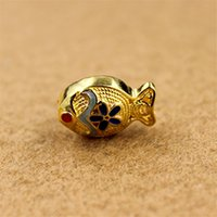 Wholesale DIY Handmade S925 Sterling Silver Jewelry S925 silver jewelry accessories Gold plated Fish Fitting For DIY Jewelry Pendant Necklace Bracelet