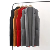 Wholesale colors new women cardigans outwear shrug red trench lady fashion long sweaters open stitch large outwear cadigans woman