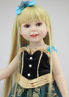 Cheap 18Inch Dolls 45cm Silicone Baby Reborn Dolls With Cotton Body Dressed in Nice Dresses Lifelike Doll Reborn Babies Toys for Girl