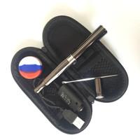 1pcs Skillet V2 Vaporisateur Kit @Puffco pro Dual Quartz Rod Chambre en céramique Donut bobines cire Dry atomiseur herbe à vapeur stylo à vapeur e cigs