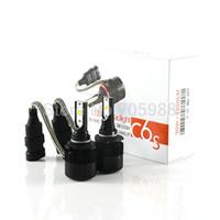 Wholesale LED HEADLIGHT KIT SET Car LED Headlight lm W Auto Kit Headlamp Xenon H1 H3 H8 H9 H11 HB3 HB4