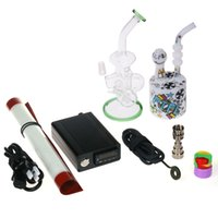 electric water heater - Electric D Dab Dnail Enail Nail Box Kit WAX Vaporizer Dry Dried Herbal Vaporizer Glass Bong Water Piper Titanium Nails Heater Coils MM DHL