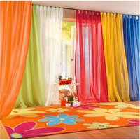 bedroom colors decor - 15 Colors Sheer Curtain For Living Room Window Tulle Curtains For Bedroom Home Decor Draperies Drapes Organza Tulle Curtain