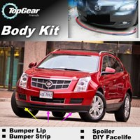 Wholesale For Cadillac SRX Bumper Lip Lips Front Skirt Deflector Spoiler For Car Tuning The Stig Recommend Body Kit Strip