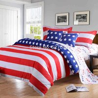 american pie cover - 2015 New American Pie Flag Printing Twin Full Queen King size Bedding set Cotton Bed Duvet cover set linen bedclothes