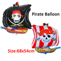 Wholesale 1PC x cm Pirate Foil Balloon Red amp Black Color Available Cartoon Theme Birthday Party Balloon