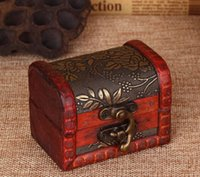 Wholesale Wooden custom Antique incorporated creative small gift jewelry boxes