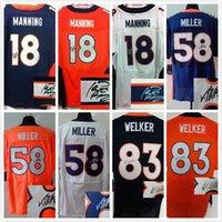 Wholesale Signed jersey Broncos Peyton Manning Wes Welker Von Millerr Men Elite Football Jerseys M XXXL