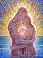 Cheap Alex Grey The Lovers Art Poster 32X24 Canvas Printing Poster shipping free