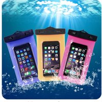 bags samples - For Iphone plus samsung galaxy s6 s5 phone Waterproof bag Clear Transparent Swim Diving protective case With lanyard Send samples