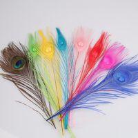 Wholesale 2016 multiple colors peacock Feather cm Clothing Decoration Plumage Fashion Crafts Beautiful Decorative PC003