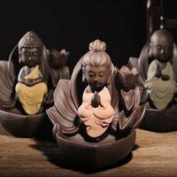 Wholesale Ceramic Backflow Smoke mm x mm Cones Incense Sticks Burner Sandalwood Censer Home Decoration with Cones Free Z00D559