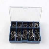 Wholesale 500box Agepoch spring lock fly squid needle catfish circle Japanese carp stainless steel bulk offset set tackle fishing hook fishhook