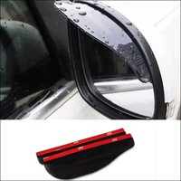 Wholesale 2pcs Black Car Universal Car Rearviem Mirror Rain Protected Acrylic Cover