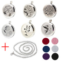 Wholesale New Fashion mm Perfume Locket L Stainless Steel Essential Oil Aromatherapy Diffuser Locket Pendant Send Chain Felt Pad WS